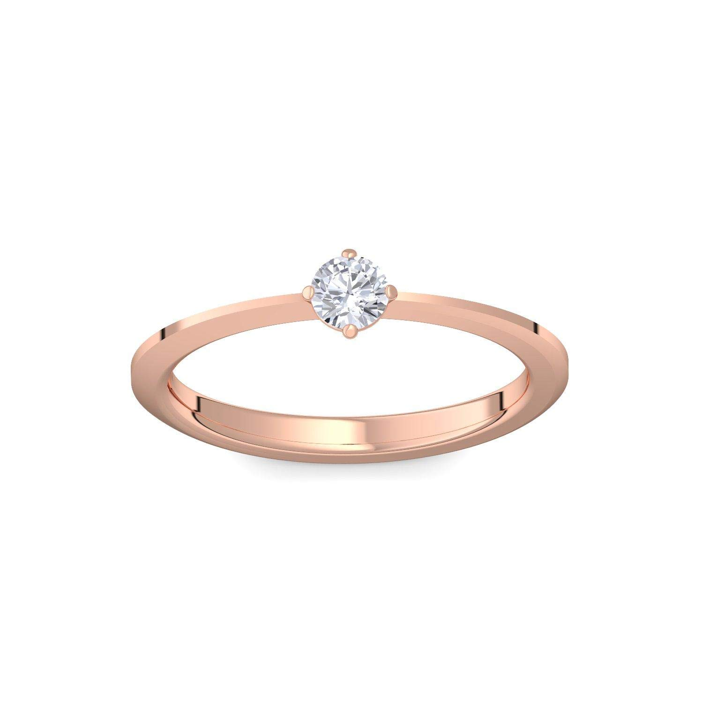 Rojo Oro Anillo Compromiso Anillo de oro rojo dorado circonitas piedra + Luxus Funda. Rojo Oro Ring Ring circonitas como anillos de diamante de regalo Bodas ...
