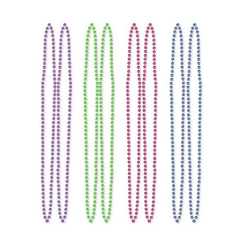 Glamorous Assorted Colors Jewel Tone Diamond Bead Necklace Party Accessories, Plastic, 60