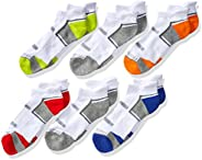 Fruit of the Loom boys Everyday Active Low Cut Tab Socks-6 Pair Pack Casual Sock