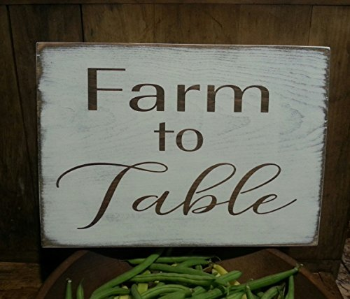 Farmhouse Kitchen Decor, Farm to Table Wooden Sign, Farmhouse Decor, Rustic Decor, Kitchen Decor, White, Shabby Chic, Primitive, Farm Sign
