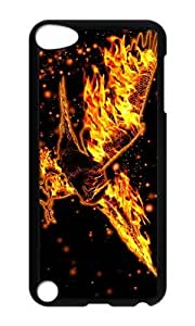 Ipod 5 Case,MOKSHOP Cute burning eagle Hard Case Protective Shell Cell Phone Cover For Ipod 5 - PC Black