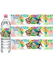 ملصقات زجاجات المياه لحفلات الكوكو-البطيخ ، 30 قطعة من ملصقات زجاجات المياه لحفلات الكوكتيل والبطيخ ، لتزيين حفلات أعياد الميلاد (a)