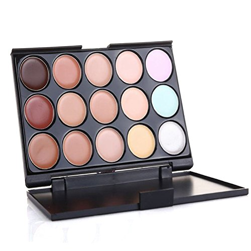 - Laimeng,Cosmetic Makeup Blusher Toothbrush Curve Foundation Brush+15 Colors Concealer