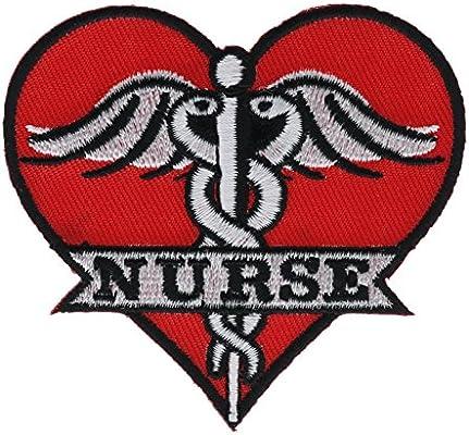 Amazon com: Medical Nurse Caduceus Heart Patch NOVPPA9537