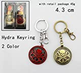 Marvel Agents of S.H.I.E.L.D. Super Heroes Hydra Logo Style Metal Pendant Keychains Key Chain Ring Keyring
