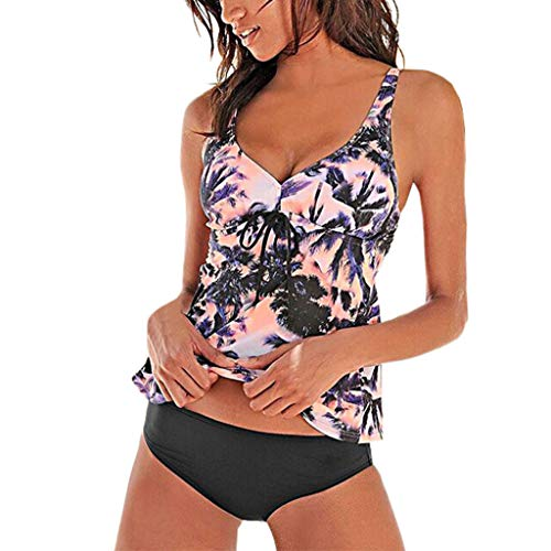 Sunhusing Summer Women Sexy Backless Print Swimwear Beachwear Siamese Swimsuit Bikini Set Orange (Raisin Infant Girl)