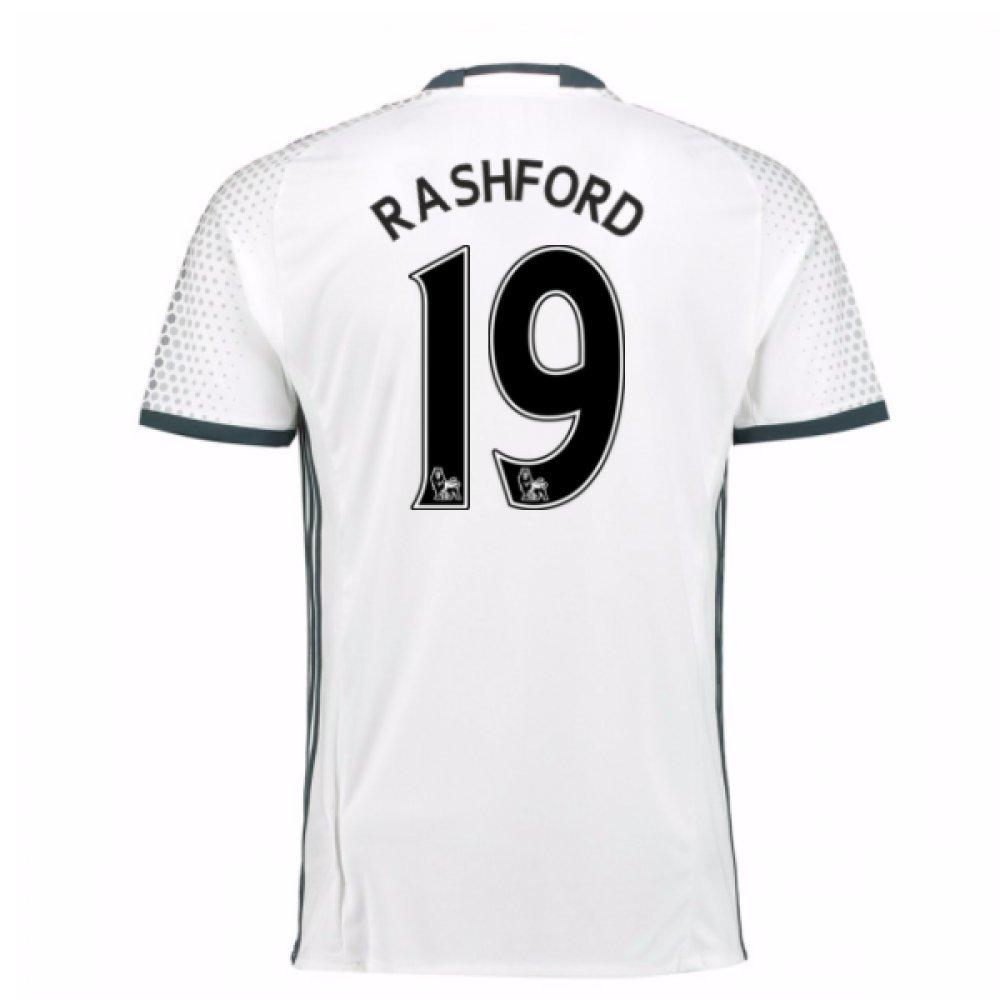 2016-17 Man Utd Third Football Soccer T-Shirt Trikot (Marcus Rashford 19)