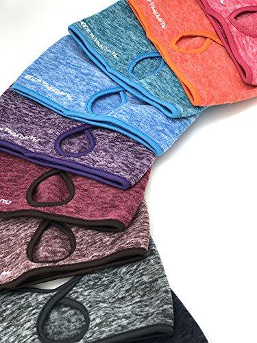 PAIRFORMANCE Women Ponytail Headband Fleece Colors Ear Wind Cold Protector (Wine)