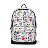 BT21 Offical Merchandise by Line Friends - Graphic Backpack Travel School Book Bag, White