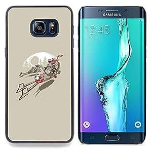 Qstar Arte & diseño plástico duro Fundas Cover Cubre Hard Case Cover para Samsung Galaxy S6 Edge Plus / S6 Edge+ G928 (Ewok Biker Gang)