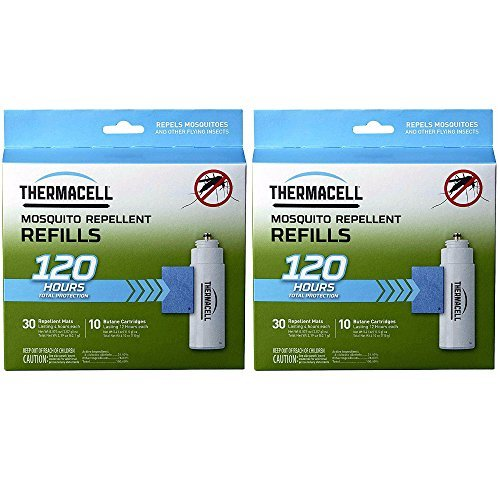 Thermacell Mega Refill Packs (R-10): 60 Mats and 20 Butane Cartridges - 2-Pack