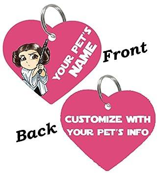 Princess Leia Pet Dog Cat ID Tag personalized
