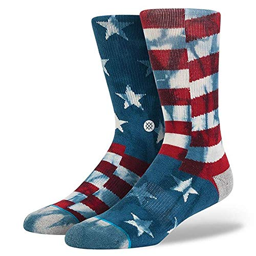 New Stance Men's Banner Crew Sock Cotton Soft Blue Large from Stance