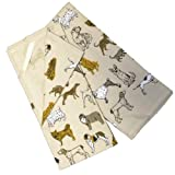 Kennel Club Dogs Kitchen Towels, Set of 2 Natural