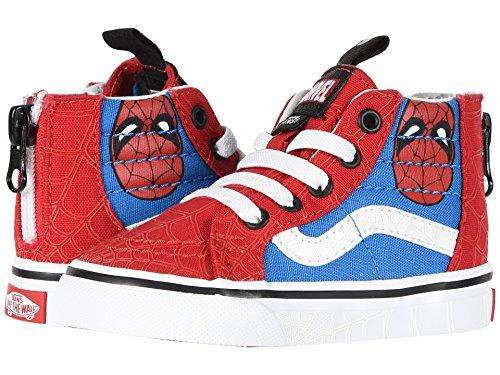 Vans SK8-Hi Zip (Marvel) Spider-Man/True White VN0A32R3U4I Todder Size 4 -