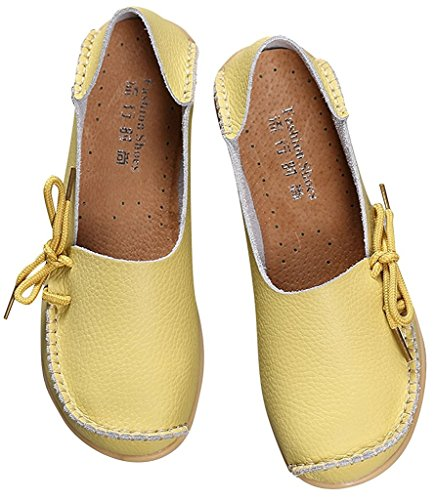 Shoes Slipper Celery ONS 1 Fangsto Slip Women's Leather Sty Flat Cowhide Loafers wtxfqYPx