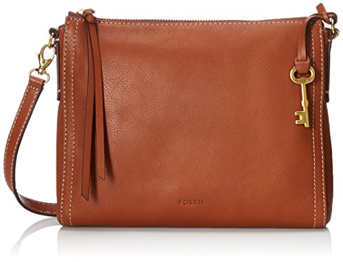 Fossil Emma E/W Crossbody,Brown,One Size by Fossil