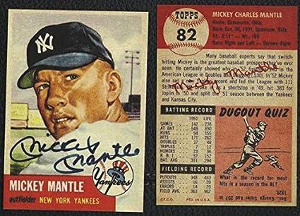 Mickey Mantle 1953 Topps Baseball Auto Reprint Card New York Yankees