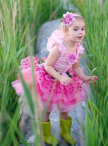 Creative Education's Pink Fairy Blooms Deluxe Dress with Wings and Headband Size Small