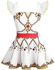 YiZYiF Girls Kids Movie Ballerina Ballet Dress Ruffles Tutu Felicie Dance Leap Skirt Costumes