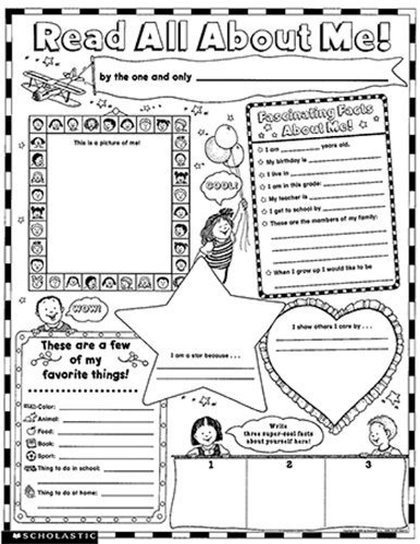 Scholastic Teaching Resources Instant Personal Poster Sets Read All About Me by Scholastics Teacher