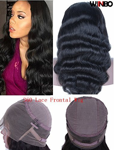 WINBOWIG 360 Frontal Wig Bodywave Brazilian Remy Human Hair Full Frontal Lace Wigs with Baby Hair for Women (16'', 360 WIG 130 Density) by Winbo