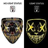 Poptrend Halloween Mask LED Light up Masks for