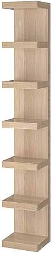Lack Ikea Etagere Murale Effet Chene Teinte Blanc 30 5 X 190 5 Cm Amazon Fr Cuisine Maison