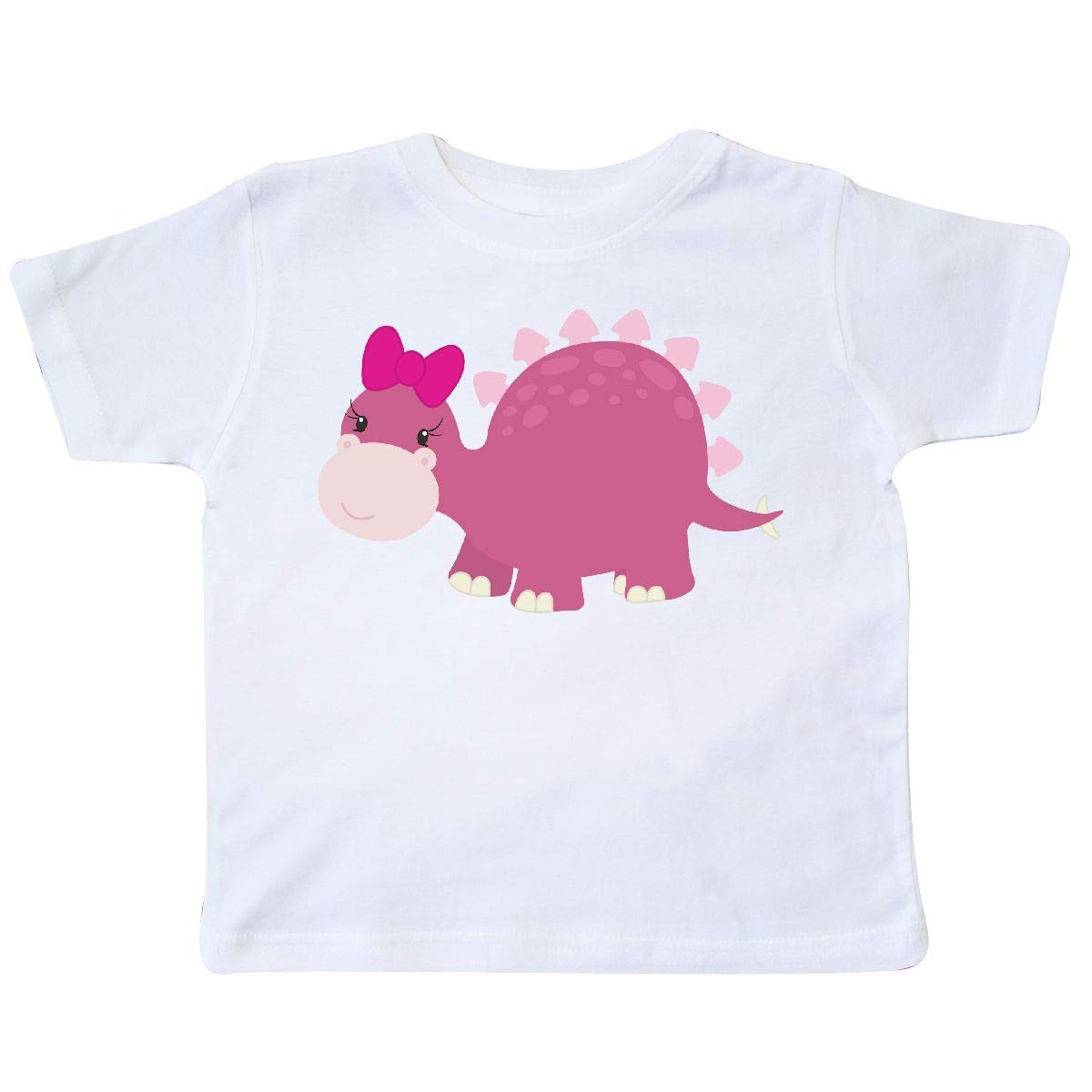 inktastic Cute Pink Dinosaur with Bow Toddler T-Shirt