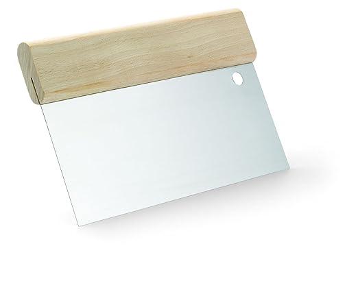 Japanspachtel rostfrei mit Holzgriffleiste Breite 300 mm