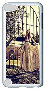 iPod Touch 5 Case and Cover -Vintage Girl PC case Cover for iPod Touch 5¨C White