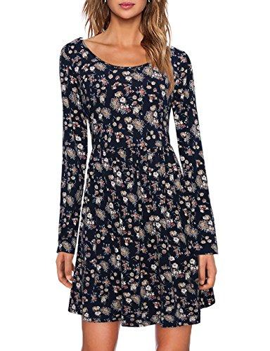 Knit Retro Print Empire Dress - 1