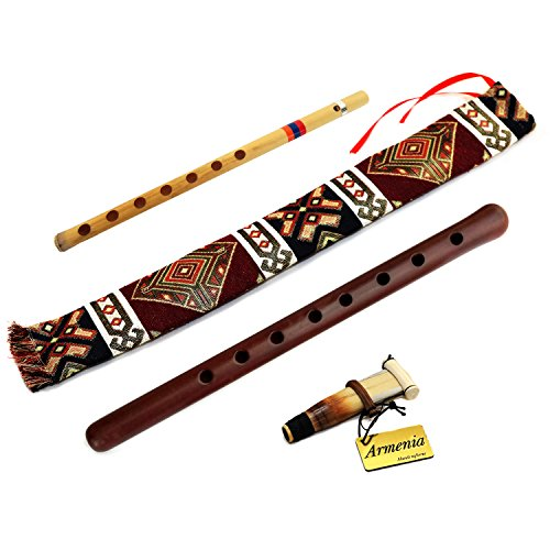 ARMENIAN DUDUK professional - handmade from ARMENIA - Oboe Balaban Woodwind Instrument Apricot Wood - Playing Instruction - Gift Armenian flute and National case by HandCraftoria