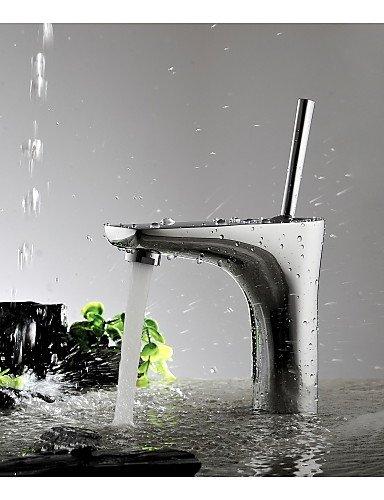 AQUAfaucet Einhand-Chrom-Waschbecken im Badezimmer Behälterhahn Mischbatterien für Waschbecken