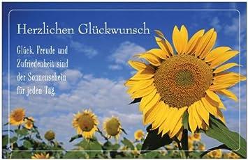 Glückwunschkarte Geburtstagskarte Grußkarte Geschenk Einladungskarte  Einladung Sonnenblume Maxikarte Postkarte Karte Mit Umschlag Weiss 216 X 139