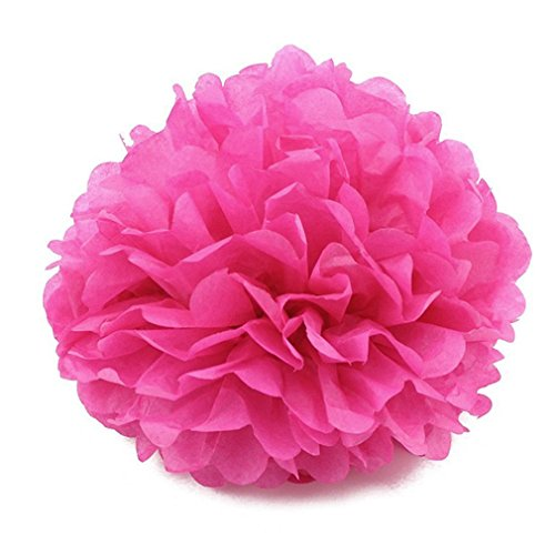 5Pc 20 25 30Cm Decoration Tissue Paper Flower Party Decorations For Home Hot Pink 15cm 6 - Light Bouquet Tulip 20