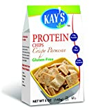 Kay's Naturals Gluten-Free Protein Chips, Parmesan Cheese, 5 Ounce Bags (Pack of 6)