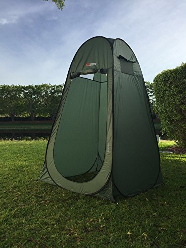 - NTK Pod Poty 3.6x3.6 Ft Portable Pop Up Privacy Shelter Dressing Changing Tent Cabana Window Room, Camping Shower Toilet Tent. Easy Assembly, Durable Fabric Full Coverage Rainfly. (Green)