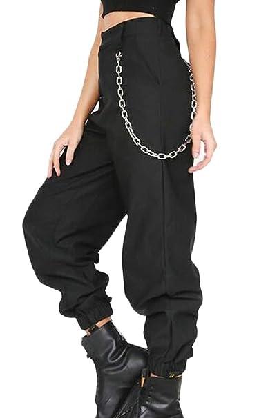 278a66e996 ZXFHZS Women Hip Hop Dance Tapered Cargo Jogger Pants Harem Baggy Sweatpants  at Amazon Women s Clothing store
