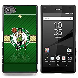 - Boston Celtic Basketball - - Cubierta del caso de impacto con el patr??n Art Designs FOR Sony Xperia Z5 compact / mini Queen Pattern