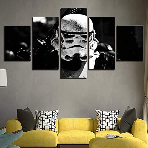 (ZLQF Art Star Wars Canvas Print Wall Art for Living Room Bedroom Kitchen Home Decorations 5 Piece,A,30502+30702+30801)
