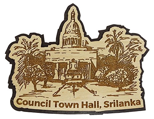 Printtoo Collectibles Engraved Council Tower Hall Souvenir Wooden Fridge Magnet
