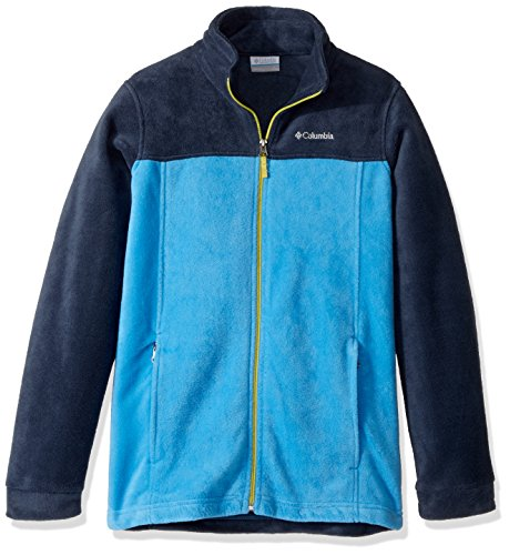 Columbia Boy's Steens Mountain II Fleece Jacket, Peninsula, Coll Navy, Ginkgo ()