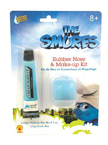 [The Smurfs Rubber Nose & Makeup Kit Costume Accessory Set] (Smurf Costumes Accessories)