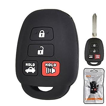 Amazon.com: Carcasa de silicona para llave de 4 botones para ...