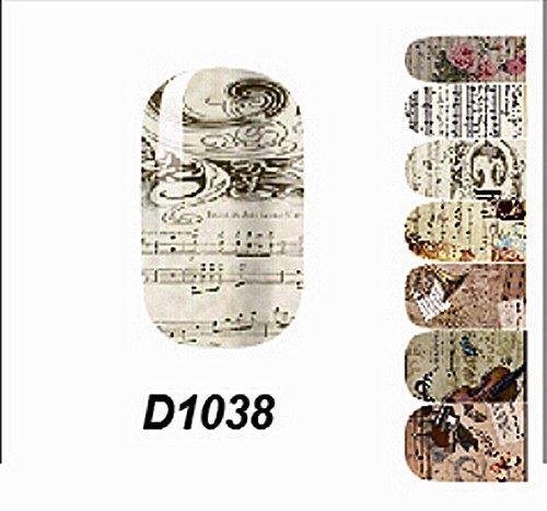 1 Pcs Stylish Polish Tips Full Decoration Manicure Wraps Popular Nail Art Stickers Style Code - Glasses Justice Fake