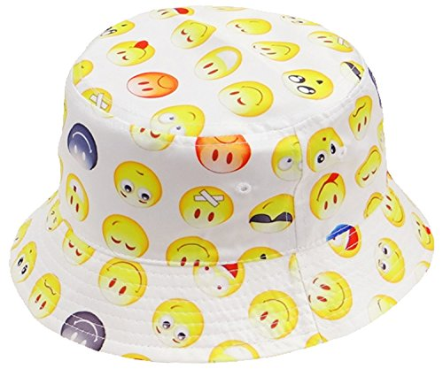 es White and Yellow for Men Women Teens (Party Hat Smiley)