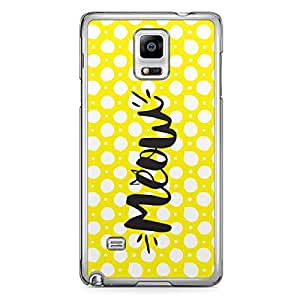 Meow Samsung Note 4 Transparent Edge Case - Animal Collection