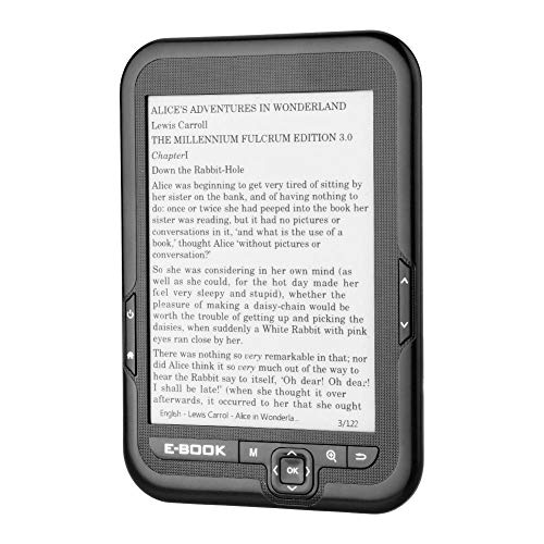 Portable 6 inch E-Reader, High Resolution E-Ink Electronic Ink Screen with  29 Languages to Choose from, Better Reflectivity and Contrast with Lower