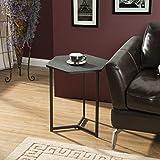 Homestar Z1710264 Hexagon Side End Table, Black Oak
